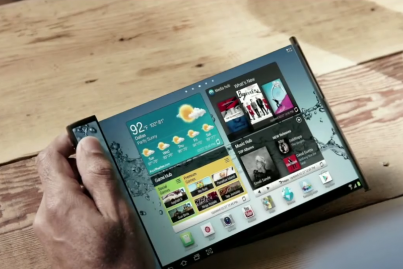 Un prototype de samsung à écran flexible